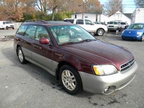 2001 Subaru Outback for sale at Liberty Motors in Chesapeake VA