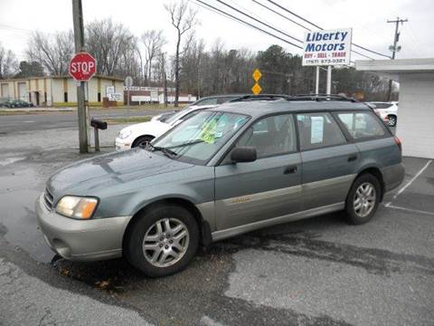 2002 Subaru Outback for sale at Liberty Motors in Chesapeake VA