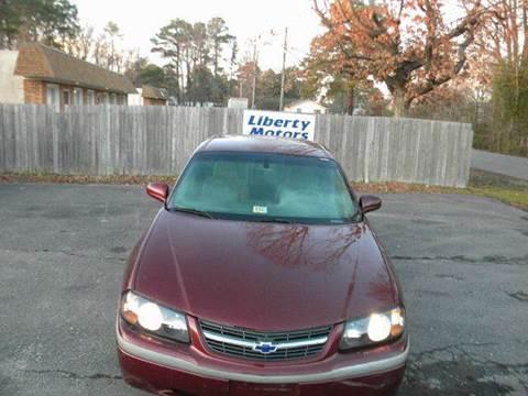 2002 Chevrolet Impala for sale at Liberty Motors in Chesapeake VA