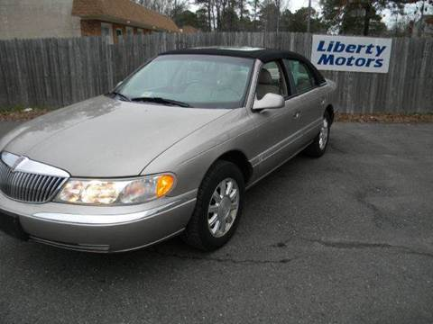 2000 Lincoln Continental for sale at Liberty Motors in Chesapeake VA