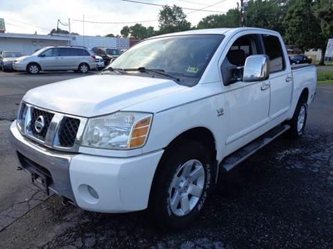 2004 Nissan Titan for sale at Liberty Motors in Chesapeake VA