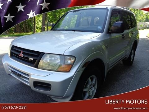 2001 Mitsubishi Montero for sale at Liberty Motors in Chesapeake VA