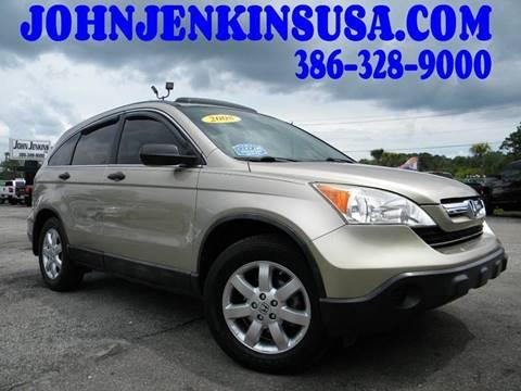 2008 Honda CR-V for sale at JOHN JENKINS INC in Palatka FL