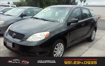 2003 Toyota Matrix for sale in Riverside, CA