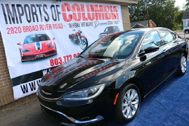 2015 CHRYSLER 200 C 4DR SEDAN black air conditioning power windows power locks power steering