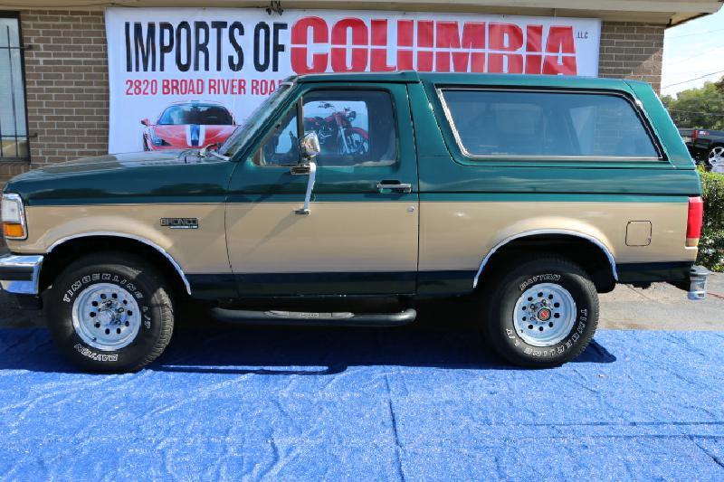 1992 FORD BRONCO U100 green air conditioning power windows power locks power steering tilt wh