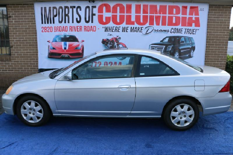 2002 HONDA CIVIC EX 2DR COUPE silver air conditioning power windows power locks power steering