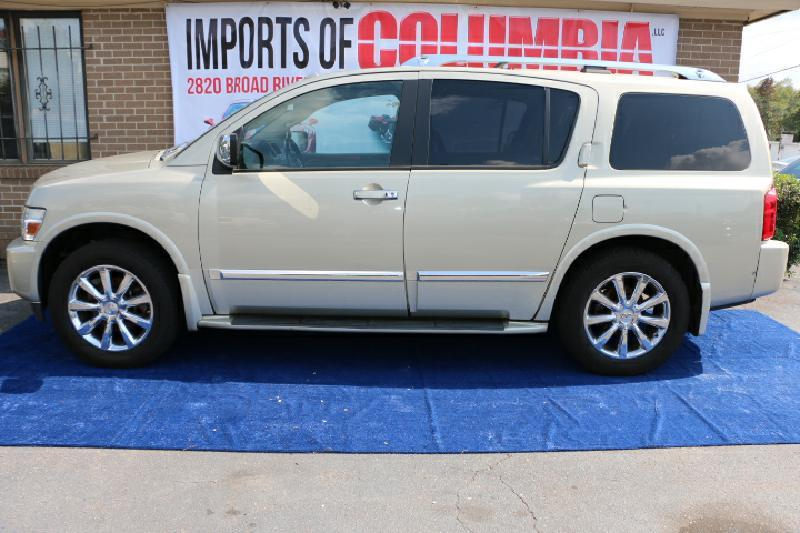 2008 INFINITI QX56 gold air conditioning power windows power locks power steering tilt wheel