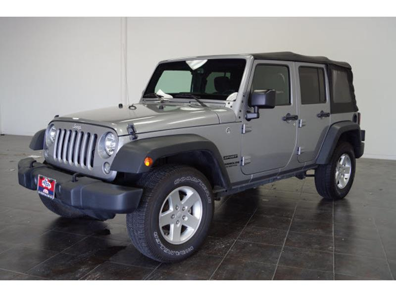 2016 Jeep Wrangler Unlimited for sale at FREDY'S USED CAR SALES in Houston TX