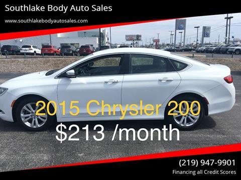 2015 Chrysler 200 for sale in Merrillville, IN