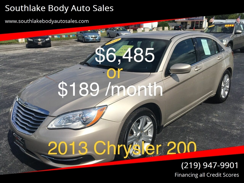 200 Down Payment Car >> 2013 Chrysler 200 Lx 88 Down Payment 189 Month In