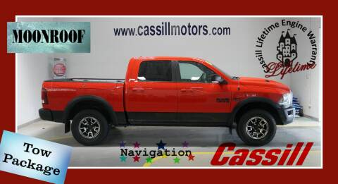 2016 RAM Ram Pickup 1500 Rebel for sale at Cassill Motors Inc in Cedar Rapids IA