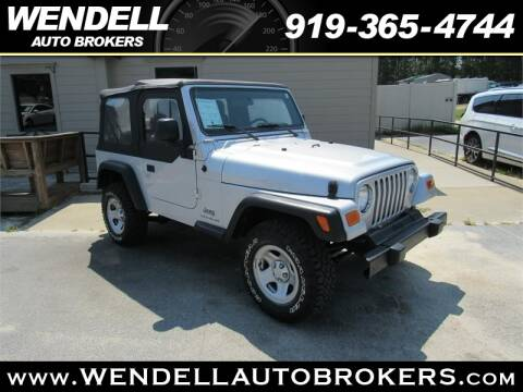 Wendell Auto Brokers >> 2006 Jeep Wrangler For Sale In Wendell Nc