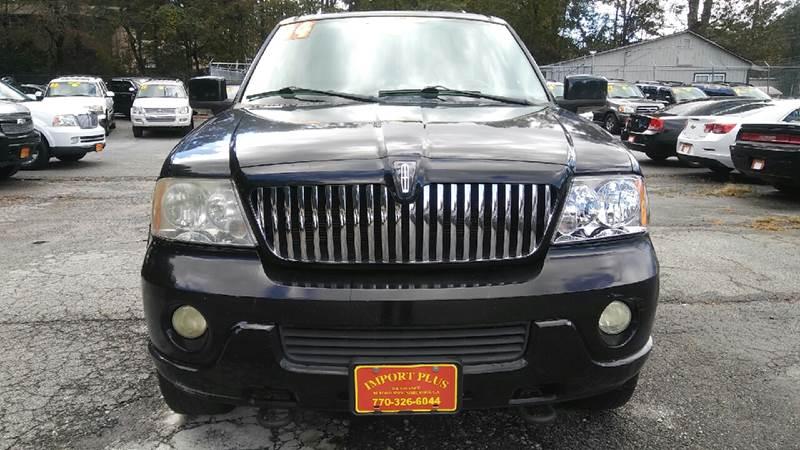 2004 LINCOLN NAVIGATOR LUXURY 4DR SUV black abs - 4-wheel adjustable pedals - power air suspens