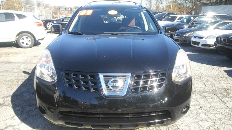 2009 NISSAN ROGUE SL CROSSOVER 4DR black 2-stage unlocking doors abs - 4-wheel active head rest