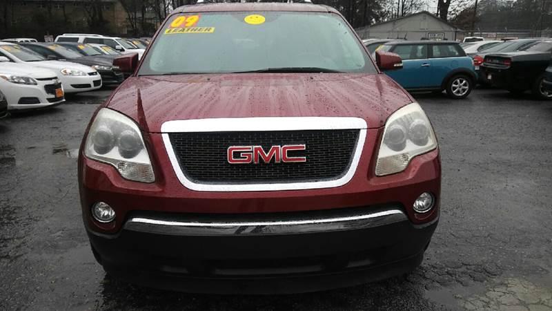 2009 GMC ACADIA SLT 1 4DR SUV maroon 2-stage unlocking doors airbag deactivation - occupant sens