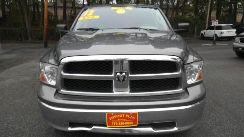 2012 RAM RAM PICKUP 1500 SLT 4X4 4DR CREW CAB 55 FT SB gray 2-stage unlocking doors 4wd select