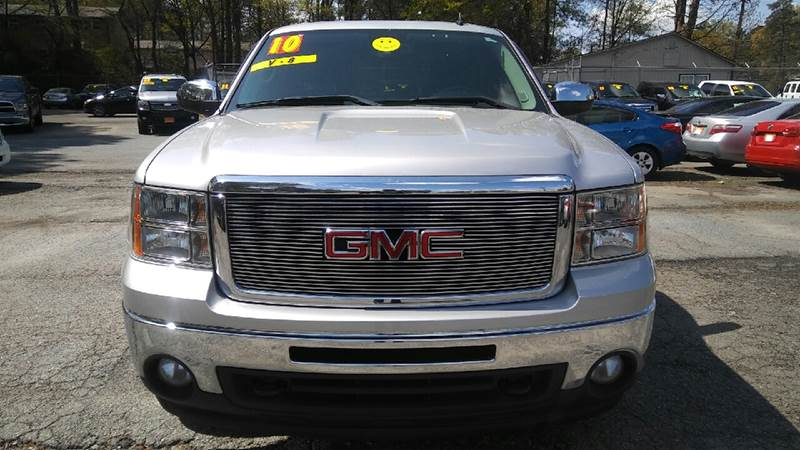 2010 GMC SIERRA 1500 SLE 4X4 4DR CREW CAB 58 FT SB silver 4wd selector - electronic hi-lo 4wd