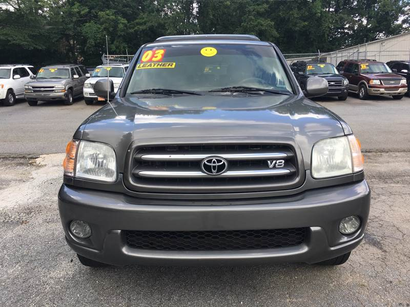 2003 TOYOTA SEQUOIA LIMITED 4DR SUV gray running boards front air conditioning - automatic clima