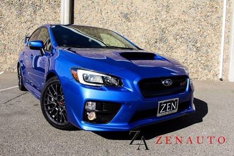 2017 Subaru WRX for sale at Zen Auto Sales in Sacramento CA