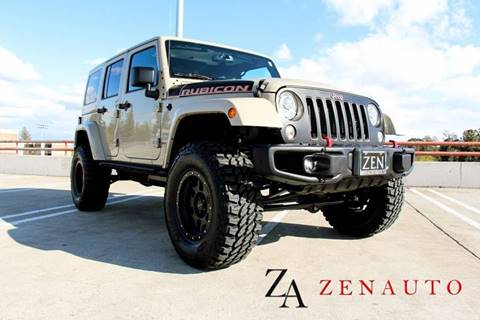 2017 Jeep Wrangler Unlimited for sale at Zen Auto Sales in Sacramento CA