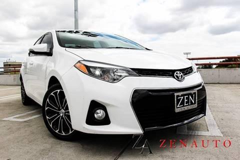 2015 Toyota Corolla for sale at Zen Auto Sales in Sacramento CA