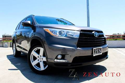 2015 Toyota Highlander Hybrid for sale at Zen Auto Sales in Sacramento CA
