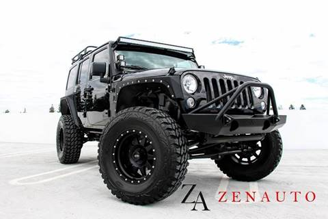 2016 Jeep Wrangler Unlimited for sale at Zen Auto Sales in Sacramento CA