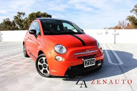 2013 FIAT 500e for sale at Zen Auto Sales in Sacramento CA