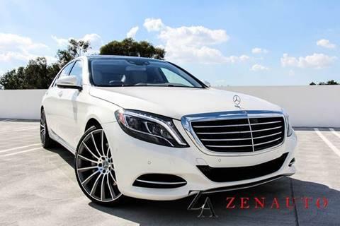 2016 Mercedes-Benz S-Class for sale at Zen Auto Sales in Sacramento CA