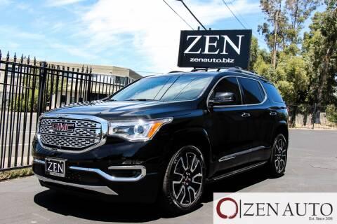 2019 GMC Acadia for sale at Zen Auto Sales in Sacramento CA