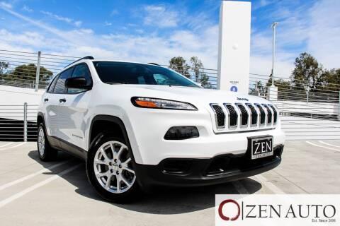 2016 Jeep Cherokee for sale at Zen Auto Sales in Sacramento CA