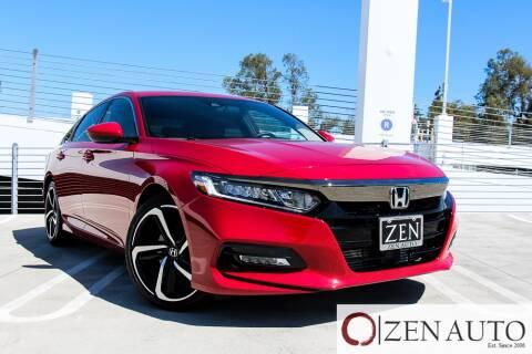 2018 Honda Accord for sale at Zen Auto Sales in Sacramento CA