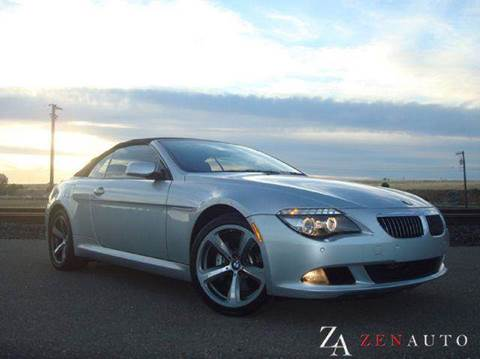 2008 BMW 6 Series for sale at Zen Auto Sales in Sacramento CA