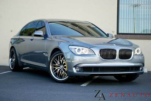 2010 BMW 7 Series for sale at Zen Auto Sales in Sacramento CA