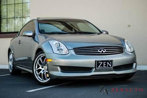 2007 Infiniti G35 for sale at Zen Auto Sales in Sacramento CA
