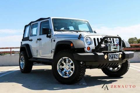 2012 Jeep Wrangler Unlimited for sale at Zen Auto Sales in Sacramento CA