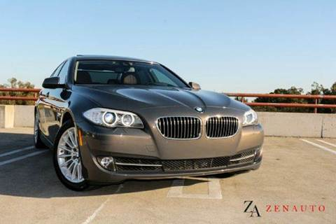 2013 BMW 5 Series for sale at Zen Auto Sales in Sacramento CA