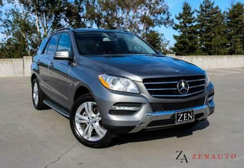 2012 Mercedes-Benz M-Class for sale at Zen Auto Sales in Sacramento CA