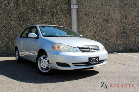 2005 Toyota Corolla for sale at Zen Auto Sales in Sacramento CA