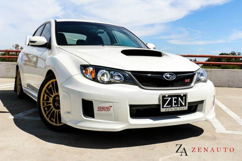 2011 Subaru Impreza Wrx Sti Awd 4dr Sedan Gold Wheels In