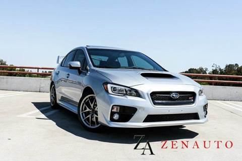 2015 Subaru WRX for sale at Zen Auto Sales in Sacramento CA