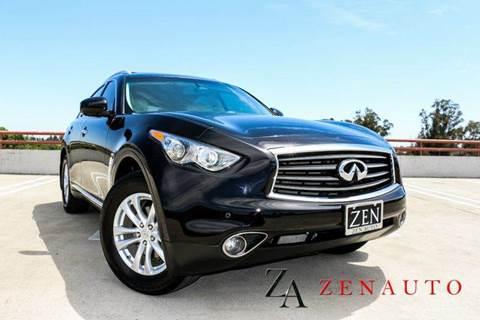 2013 Infiniti FX37 for sale at Zen Auto Sales in Sacramento CA