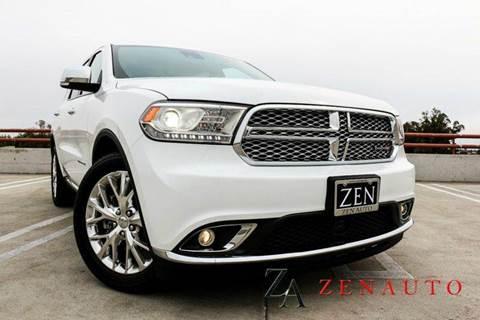 2014 Dodge Durango for sale at Zen Auto Sales in Sacramento CA