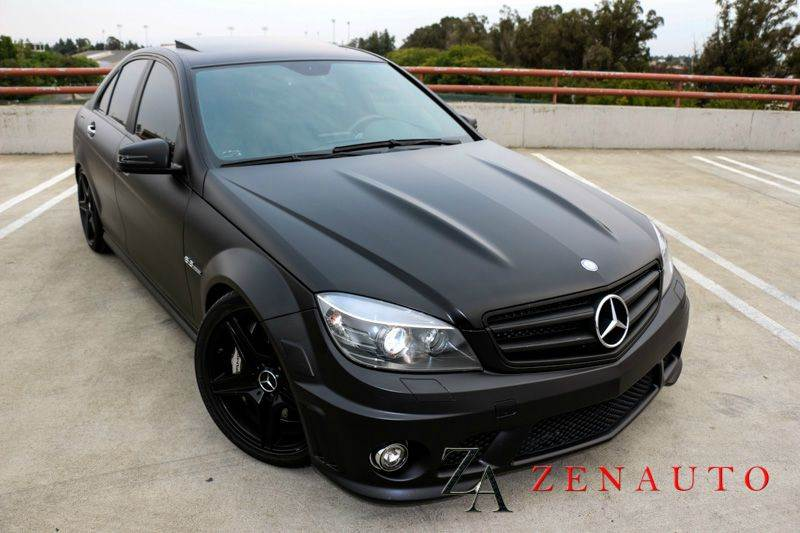 2010 mercedes benz c class c63 amg 4dr sedan custom frost matte blk amg premium pkg navi carbon. Black Bedroom Furniture Sets. Home Design Ideas