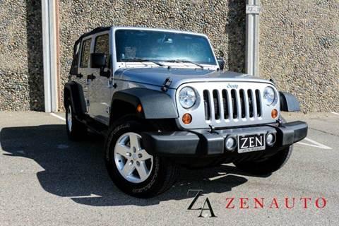 2013 Jeep Wrangler Unlimited for sale at Zen Auto Sales in Sacramento CA