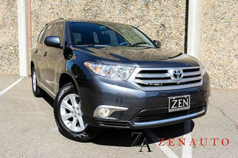 2013 Toyota Highlander for sale at Zen Auto Sales in Sacramento CA