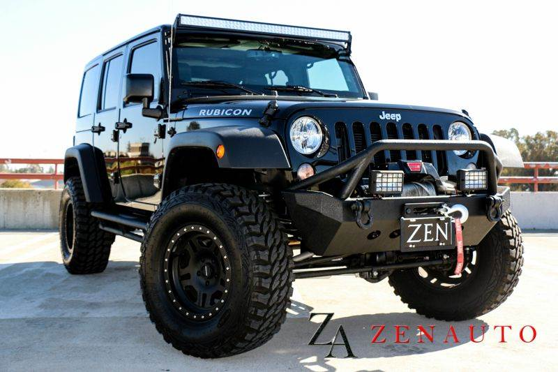 2015 Jeep Wrangler Unlimited Rubicon 4x4 4dr SUV 4 Door Hardtop Custom  Lifted Winch 4