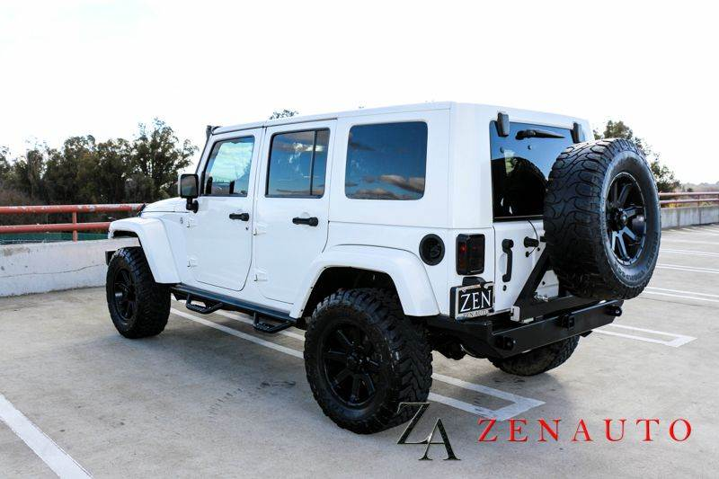 2010 jeep wrangler unlimited sahara 4x4 4dr suv custom lifted navi white jk in sacramento ca. Black Bedroom Furniture Sets. Home Design Ideas
