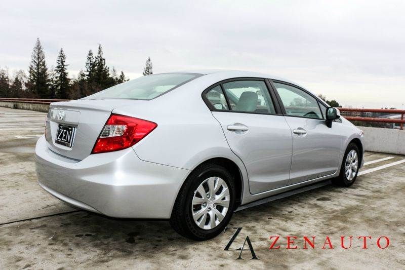 2012 honda civic lx 4dr sedan 5a 39 mpg low miles in sacramento ca zen auto sales. Black Bedroom Furniture Sets. Home Design Ideas